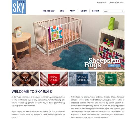 Sky Rugs | Website - Pfrog DesignPfrog Design