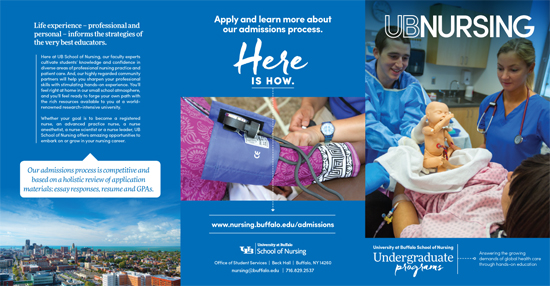 Onion Studio | UB Nursing Undergrad Brochure
